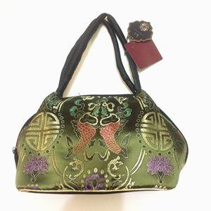 Free w $49+ purchase Satin Fish Pattern Bag